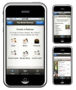 Top Model Release, Model release app