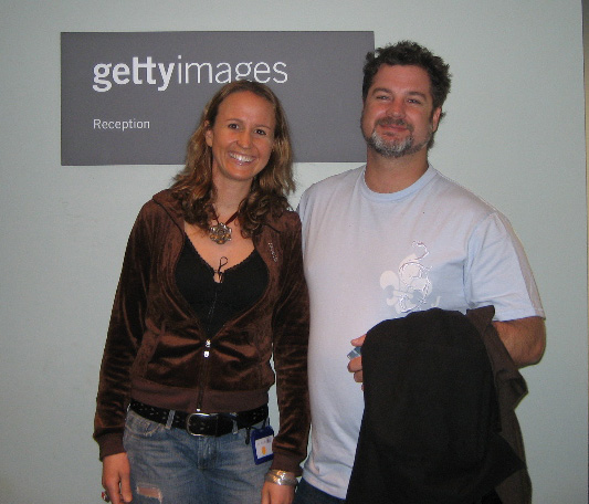 Marcus Bell visits New York and me at Getty Images
