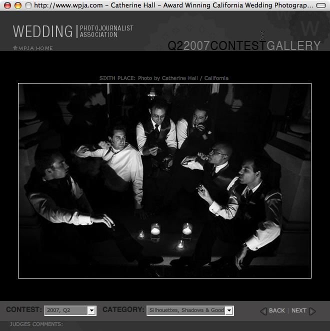Winning Image in Wedding Photojournalist Association International Contest